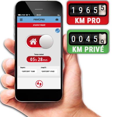 logiciel automobile km parcourus, privé-pro PRIVATE USE MANAGEMENT